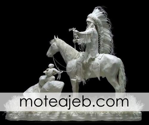 mojasame kaghazi 2 - مجسمه های کاغذی (1)