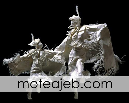 mojasame kaghazi 3 - مجسمه های کاغذی (1)
