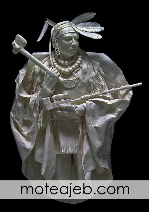 mojasame kaghazi 5 1 - مجسمه های کاغذی (1)