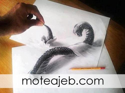 naghashi ba medad 3D - نقاشی با مداد 3D