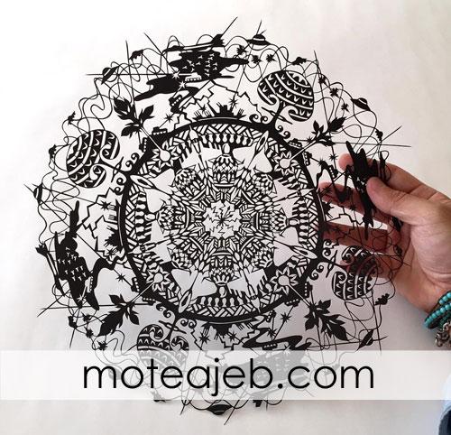 kandekari roye kaghaz 2 - کنده کاری روی کاغذ