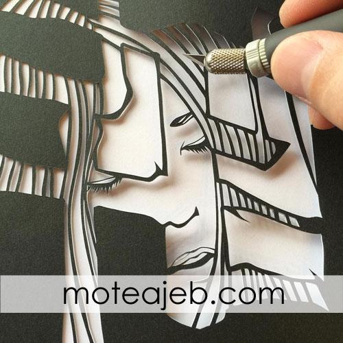 kandekari roye kaghaz 3 - کنده کاری روی کاغذ