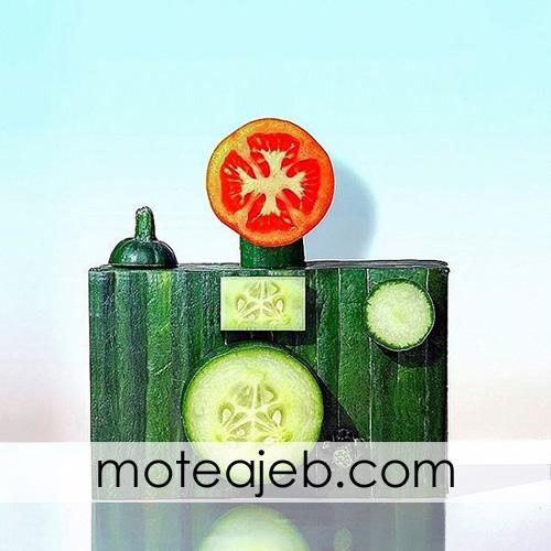 sakht ashyae ba mavad ghazaie 3 - ساخت اشیاء با مواد غذایی